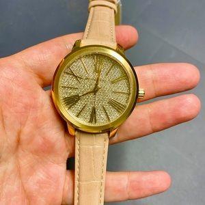 Michael kors leather belt watch